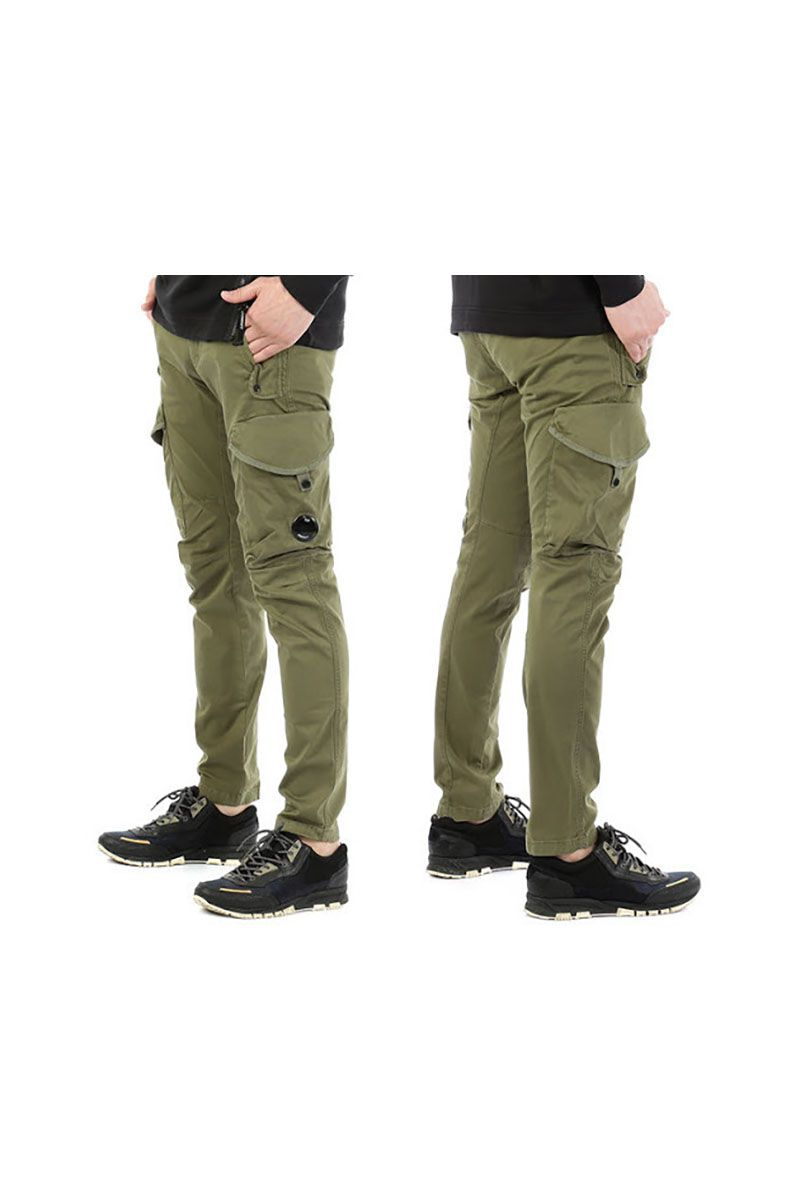 CP COMPANY - CARGO PANTS MILITARY GREEN