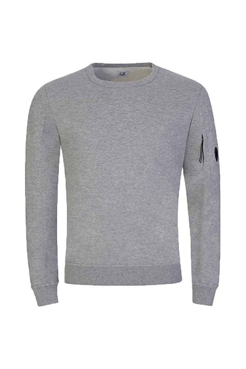 CP COMPANY - LENS SWEATER - GREY
