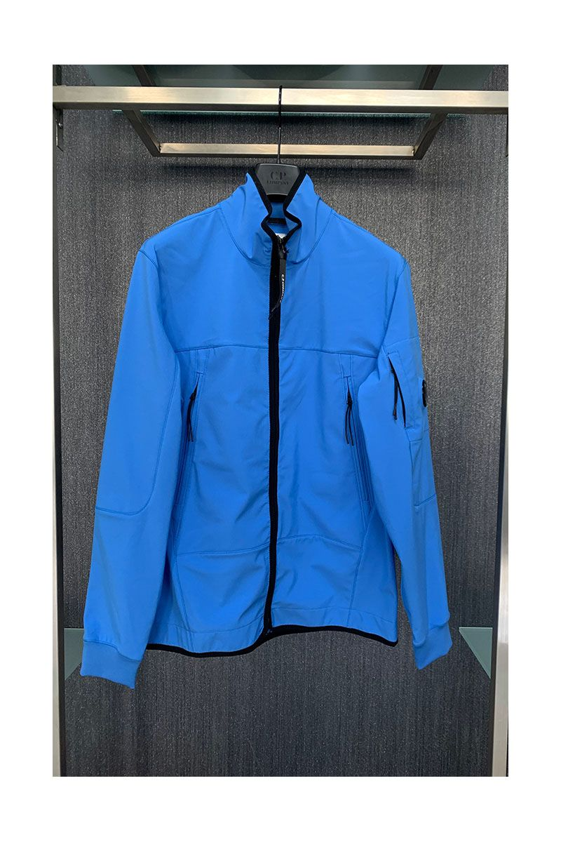 CP COMPANY - SOFT SHELL JACKET - BLUE