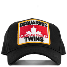 Load image into Gallery viewer, DSQUARED2 - GABARDINE BASEBALL CAP - BLACK