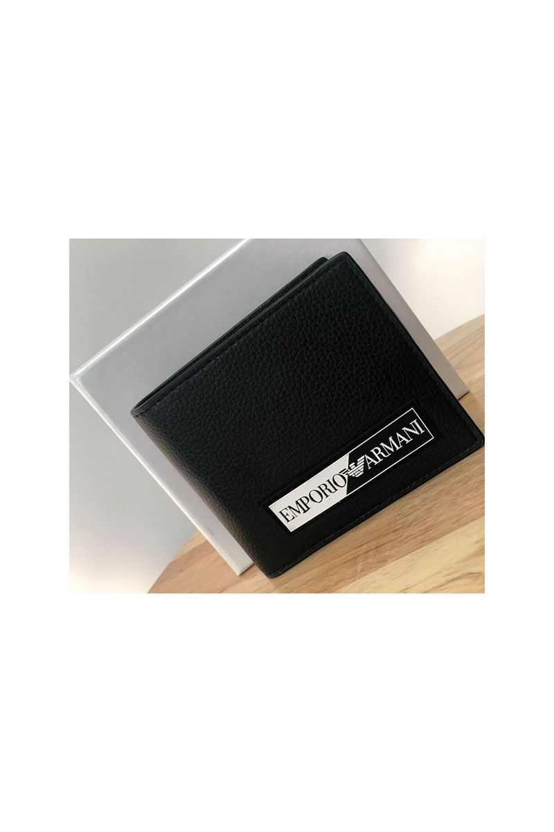 Armani Wallet Black/White Patch