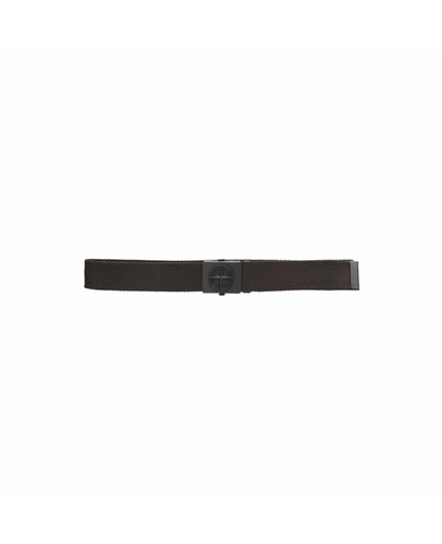 STONE ISLAND JUNIOR LOGO BUCKLE BELT IN BLACK