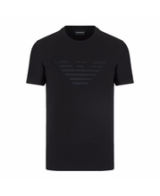Load image into Gallery viewer, EMPORIO ARMANI BLACK T-SHIRT WITH LARGE LOGO