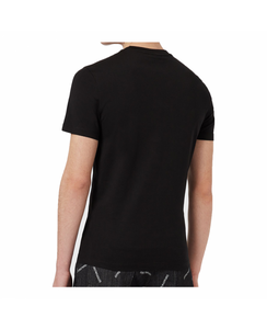 EMPORIO ARMANI BLACK T-SHIRT WITH LARGE LOGO