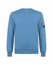 Load image into Gallery viewer, CP COMPANY CREW NECK SWEATER-BLUE