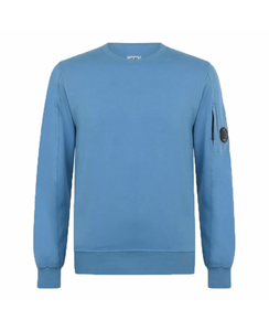 C.P. COMPANY CREW NECK SWEATER-BLUE