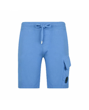 Load image into Gallery viewer, CP Company Lens Cotton Shorts - Blue