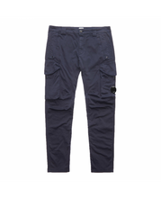 Load image into Gallery viewer, CP Company Dyed Stretch Cotton Cargo Bottoms In Total Eclipse