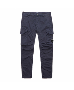 CP Company Dyed Stretch Cotton Cargo Bottoms In Total Eclipse