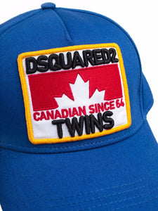 DSQUARED2 - GABARDINE BASBALL CAP - ROYAL BLUE