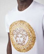 Load image into Gallery viewer, VERSACE - EMBROIDERED MEDUSA - WHITE / GOLD