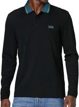 Load image into Gallery viewer, Hugo Boss-LONG SLEEVE POLO SHIRT-BLACK AND BLUE