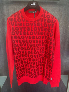 LOVE MOSCHINO - RED LOGO JUMPER