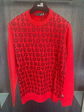 Load image into Gallery viewer, LOVE MOSCHINO - RED LOGO JUMPER