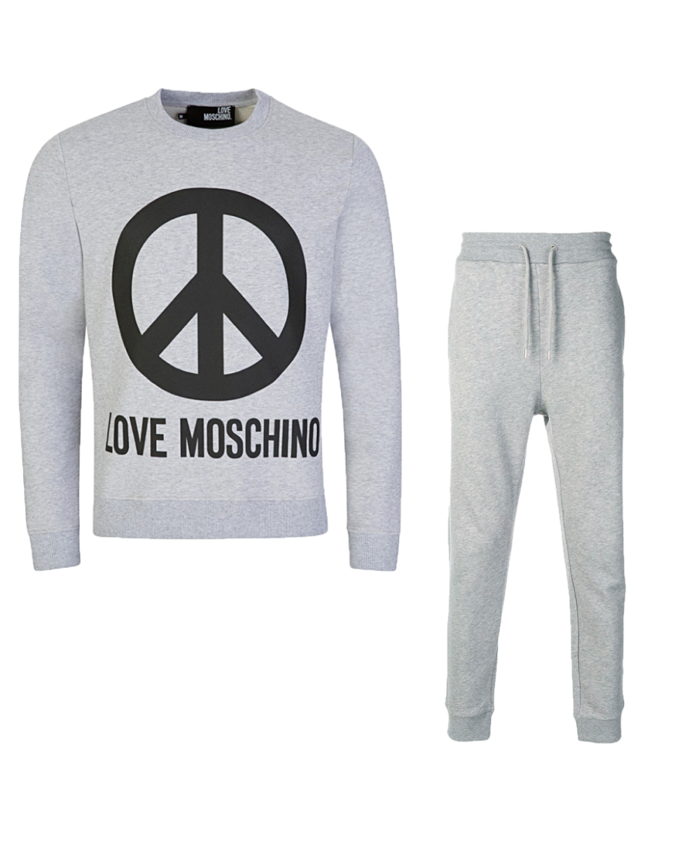 LOVE MOSCHINO - PEACE TRACKSUIT SET - GREY
