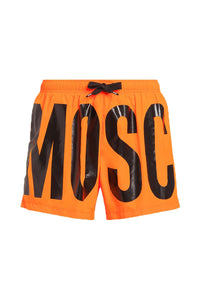 MOSCHINO ORANGE NEON SWIM SHORTS