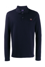 Load image into Gallery viewer, PAUL & SHARK LONG SLEEVE POLO SHIRT-NAVY