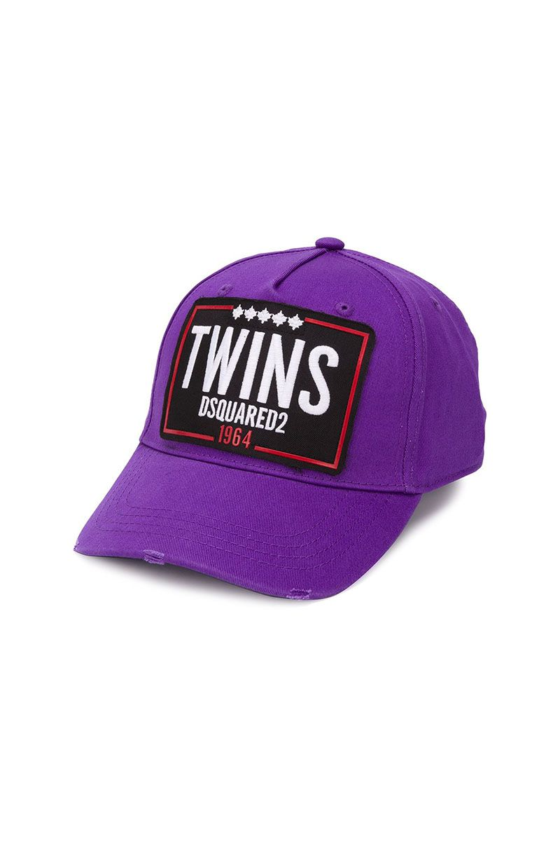 DSQUARED2 TWINS CAP - PURPLE