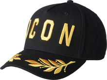Load image into Gallery viewer, Dsquared2 ICON Logo Cap in Black/Gold