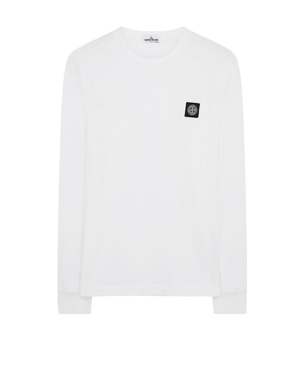 STONE ISLAND -  LONG SLEEVE T-SHIRT IN WHITE