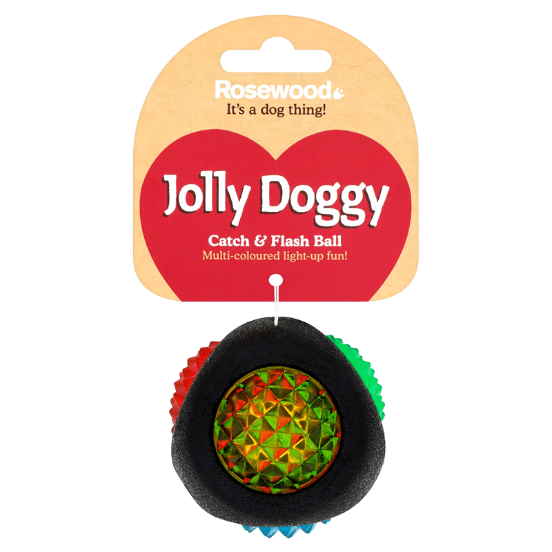 Rosewood - Jolly Doggy Catch & Flash Ball for Dogs