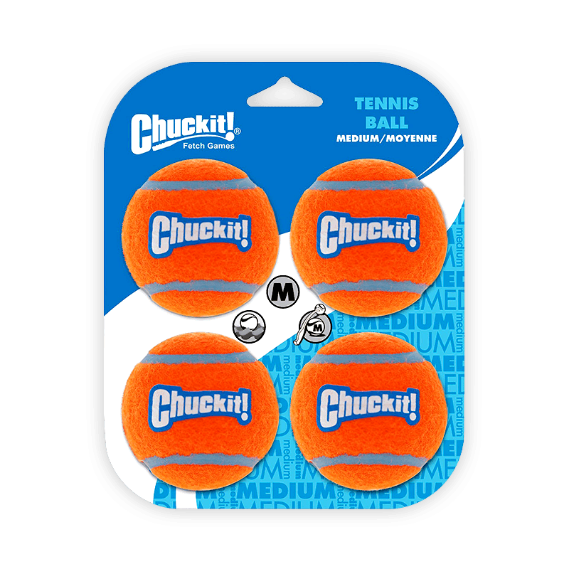 ChuckIt! - Tennis Balls / Medium (4 Pack)