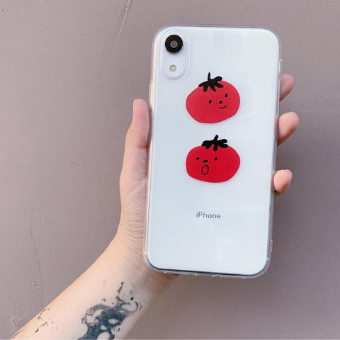 Cute Emergency Cartoon Tomatoes iPhone Case
