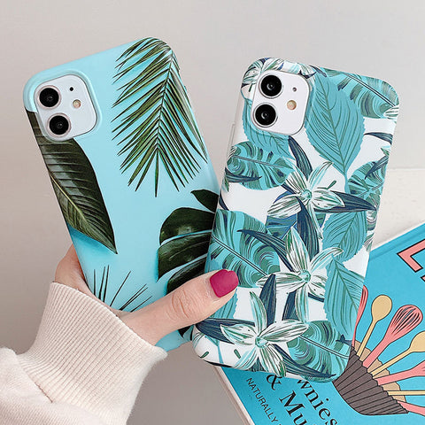 Retro Banana Leaves iPhone Case