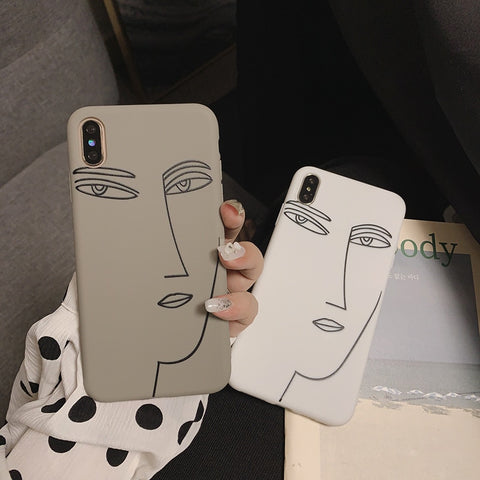Love Arts Girl Face iPhone Case