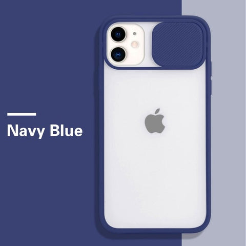 Navy Blue | iPhone Slide Camera Protection Case