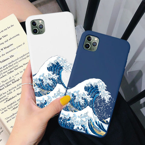Love Arts The Big Wave of Kanagawa iPhone Case