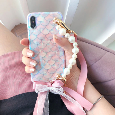 Cute Emergency Shining Mermaid iPhone Case