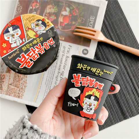 Hot Chicken Flavor Ramen Earphone Case for Airpods 1 2 Pro 3
