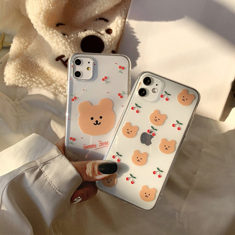 Cute Emergency Cherry Bear iPhone Case
