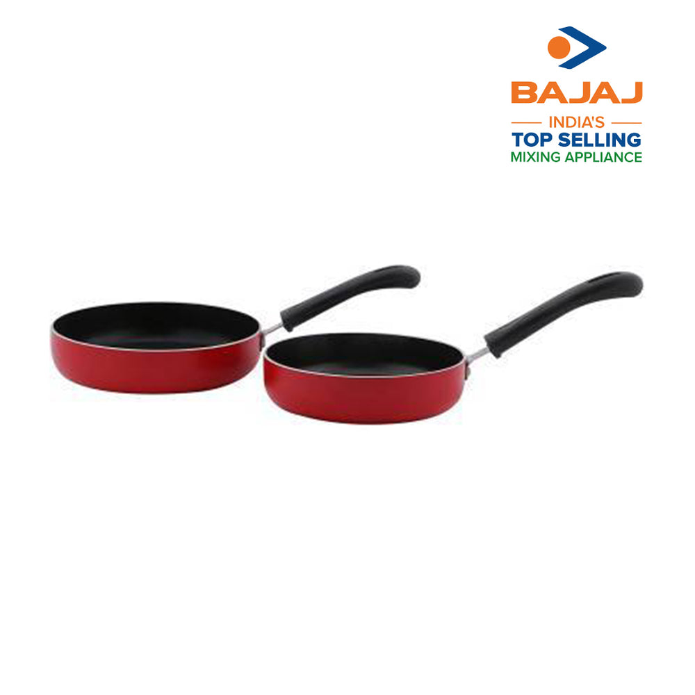Nirlep NIRLEP 2 MIN. Fry Pan 14cm, Fry PAN 16cm with display stand (Aluminium, Non-stick)