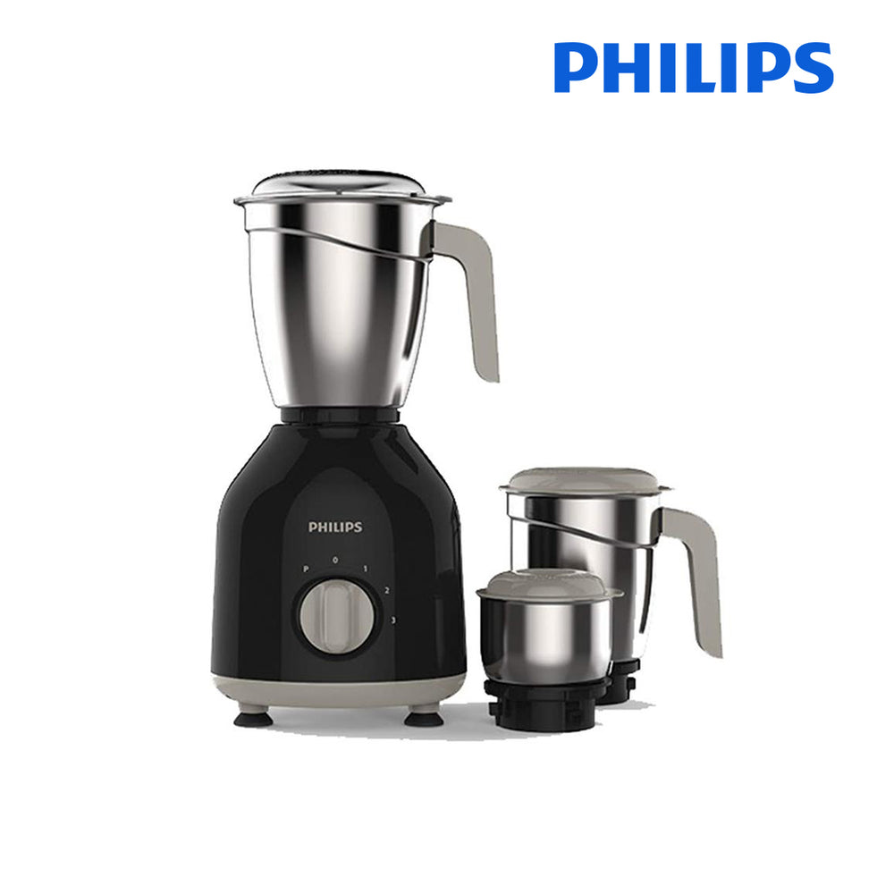 Philips HL7756 Mixer Grinder, 750W, 3 Jars (Black)