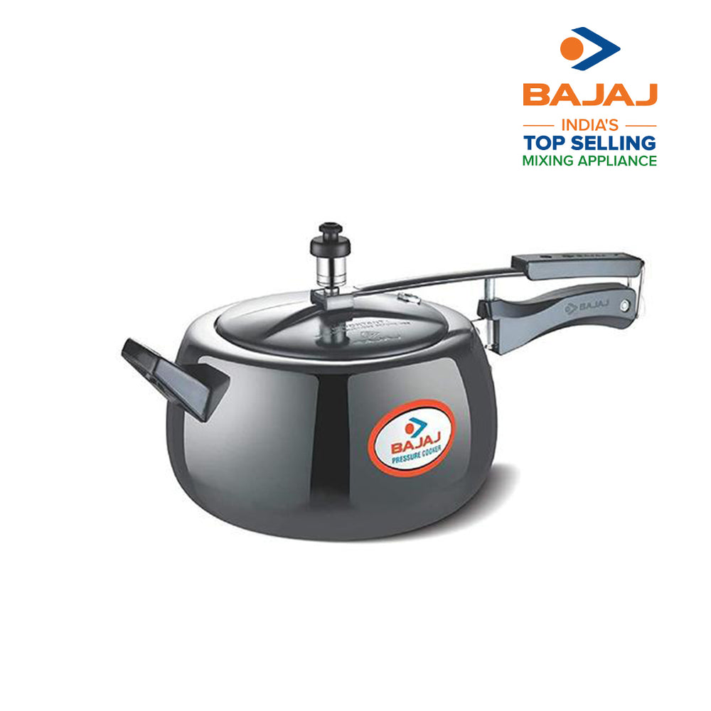 Load image into Gallery viewer, Bajaj PCX 65H, 5 LTR, Aluminium Handi Pressure Cooker (Black, ISI Certified)