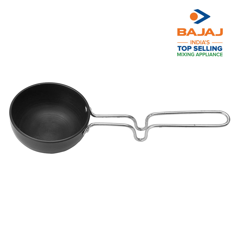 Load image into Gallery viewer, Nirlep by Bajaj Electricals Ebony Hard Anodized Tadka Pan, 100 Mili LTR (Black)