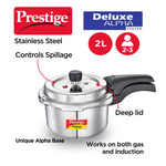 Prestige Svachh Deluxe Alpha 2.0 Litre Stainless Steel Pressure Cooker