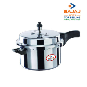Load image into Gallery viewer, Bajaj PCX 7.5, 7.5 LTR, Aluminium Handi Pressure Cooker (Silver, ISI Certified)