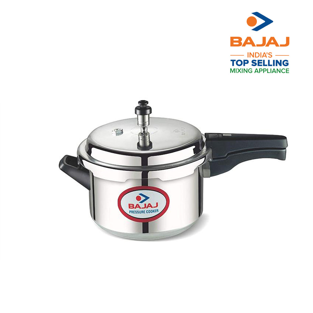 Bajaj PCX 3, 3 LTR Outer Lid Pressure Cooker (Silver, ISI Certified)