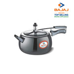 Bajaj PCX 63HD, 3 LTR, Aluminium Handi Pressure Cooker with Induction Base (Black, ISI Certified)
