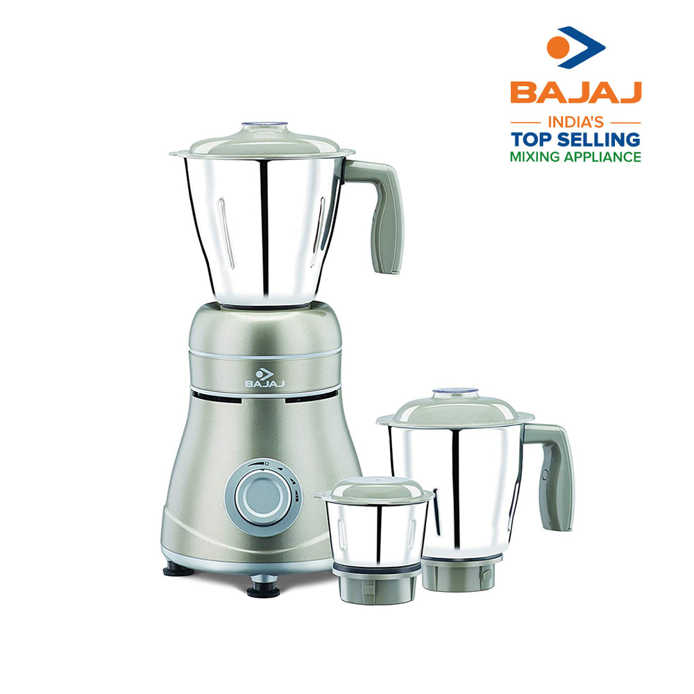 Bajaj Ivora Silky Caramel 800 Watts, 3 Jar Mixer Grinder with Anti-Germ & Anti-Dust Coating
