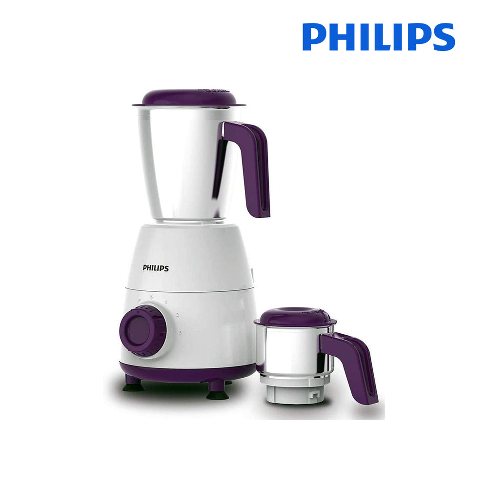 PHILIPS HL7506  Mixer Grinder, 500W, 2 Jars (Purple)