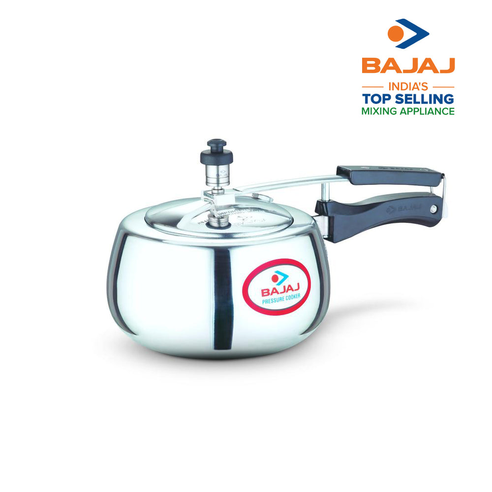 Bajaj PCX 63D, 3 LTR, Aluminium Handi Pressure Cooker with Induction Base (Silver, ISI Certified)