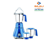 Bajaj Beryl Persian Blue 750 Watts, 3 Jar Mixer Grinder with Anti-Germ & Anti-Dust Coating