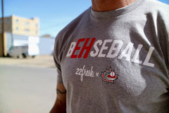 B'EH'seball T -Grey | B'EH'seball T-Shirt Gris