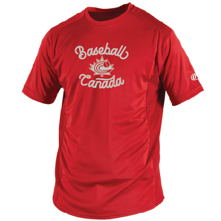 Rawlings Men's Short Sleeve Performance T Red or Black