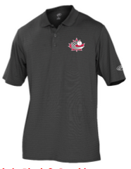 Rawlings  Grey Golf Shirt with Baseball Canada Logo|Chandail polo de Baseball Canada de Rawlings