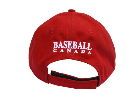 Baseball Canada Adjustable Hat/Casquette ajustable de Baseball Canada (Red/rouge)